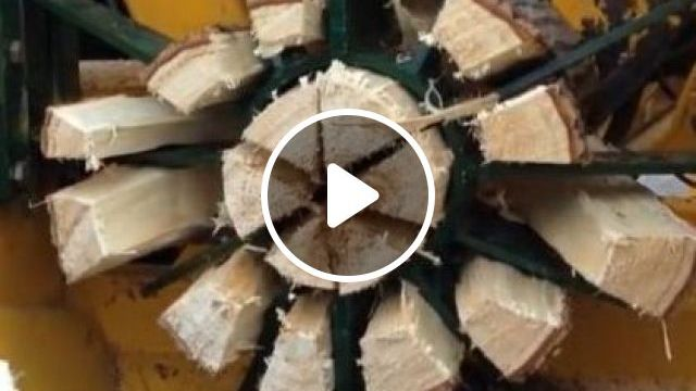 This Wood Splitter Can Split Wood Effortlessly - Video & GIFs   science & technology, wood cutting machine, machine technology