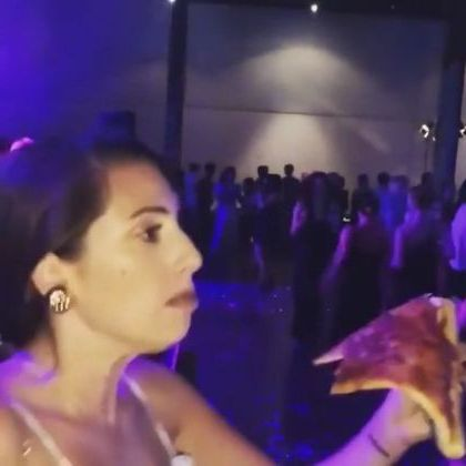 girl was eating and dancing in  restaurant - Funny Videos - funnylax.com - Fashion & Beauty, girls, clothes fashion, eating, dancing, restaurants, customers, satisfied