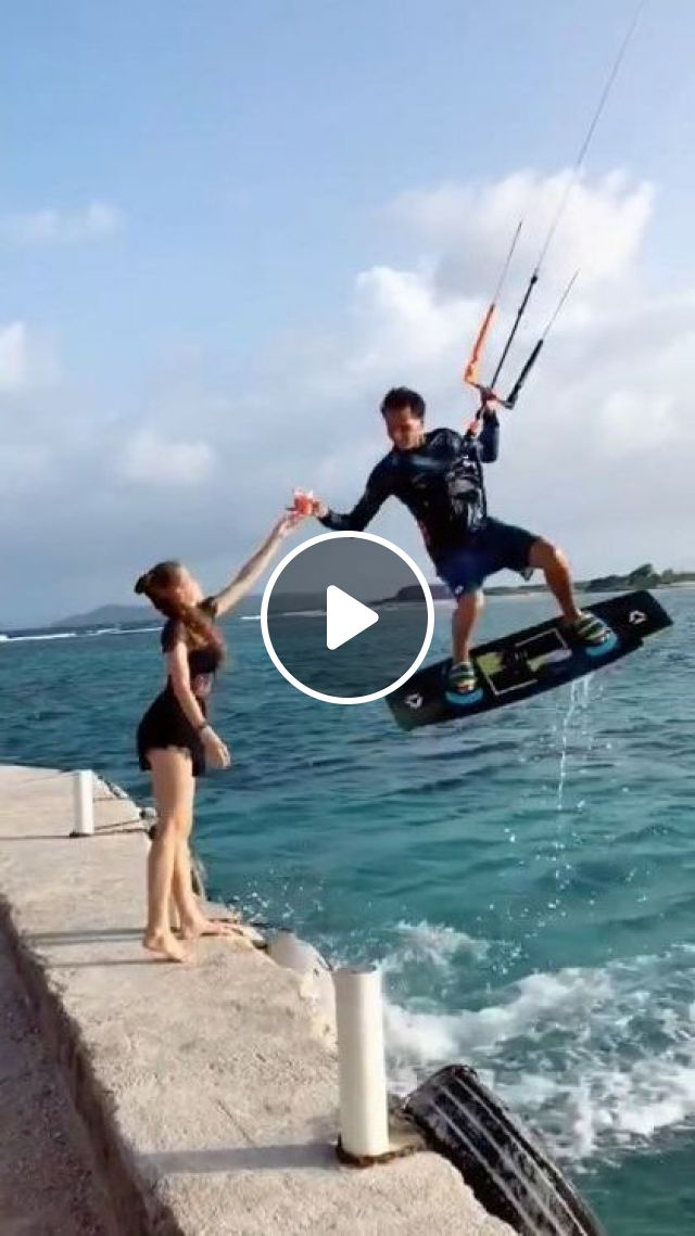 Tourism Combined With Kite Surfing - Video & GIFs | Nature & Travel, Tourism, combined, kite surfing, sport