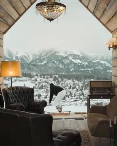 Resort on the snowy peak in  tour - Funny Videos - funnylax.com - Nature & Travel,funny, parkour,performances,winter