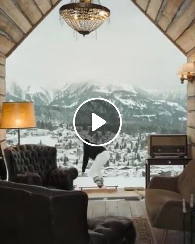 Resort On The Snowy Peak In Tour - Video & GIFs | Nature & Travel, funny, parkour, performances, winter
