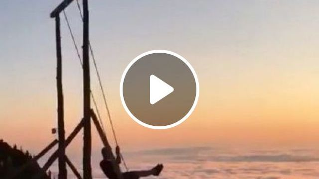 Swing Above Clouds In Huber, Yaylasi In Rize Province In Turkey - Video & GIFs | Nature & Travel, tourists, beautiful scenery