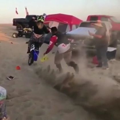 Girl and terrain motorcycle in desert - Video & GIFs | auto & technique,girls,women fashion,motorcycle terrain,desert,sports cars,terrain vehicles
