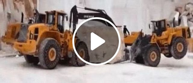 Excavators Are Moving Rock - Video & GIFs | auto & technique, excavators, machines for people