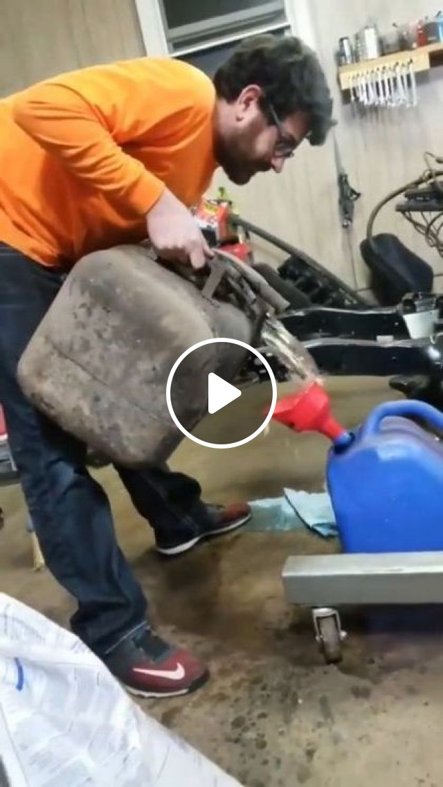A Man Poured Gasoline On The Factory Floor - Video & GIFs   science & technology, men, men's fashion, factory floor