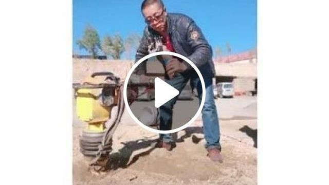 Hardworking Man With Soil Compressors - Video & GIFs | fashion & beauty, men, men's fashion, soil compressors