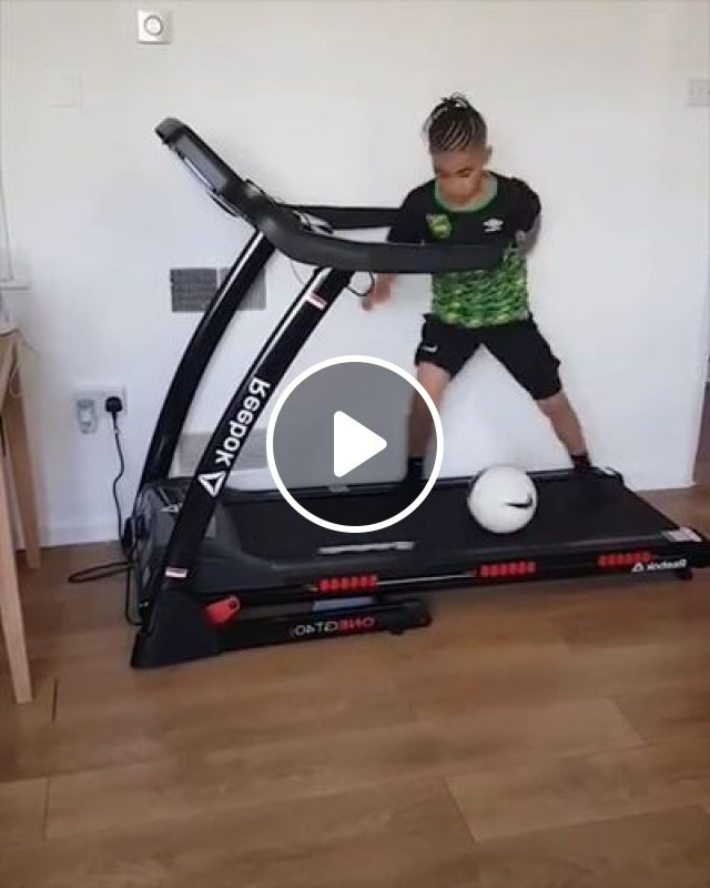 This Little Boys Soccer Skills Are Incredible! - Video & GIFs   sports, workout, fit, boy, football, cardio, treadmill