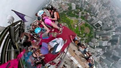 Base Jumping World's 7th tallest tower with marshall miller