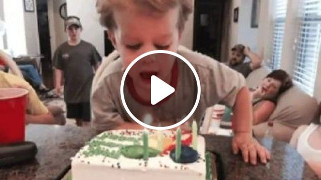 Everyone In Family Waits For Child To Blow A Birthday Cake In Apartment's Living Room. - Video & GIFs | fashion & beauty, children's fashion, birthday cake, apartments, living rooms, luxurious furniture
