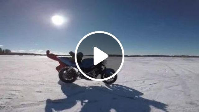 A Man Is Trying To Follow A Motorbike On The Snow - Video & GIFs | nature & travel, man, sports fashion, sports motorcycle, winter, snow
