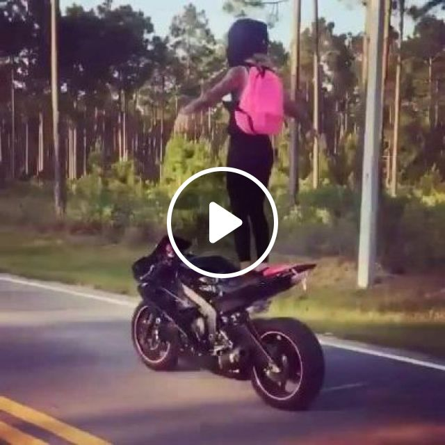 Girl Traveling With Sports Motorcycle - Video & GIFs | nature & travel, girls, clothes fashion, luxury bags, travel, sports motorcycle