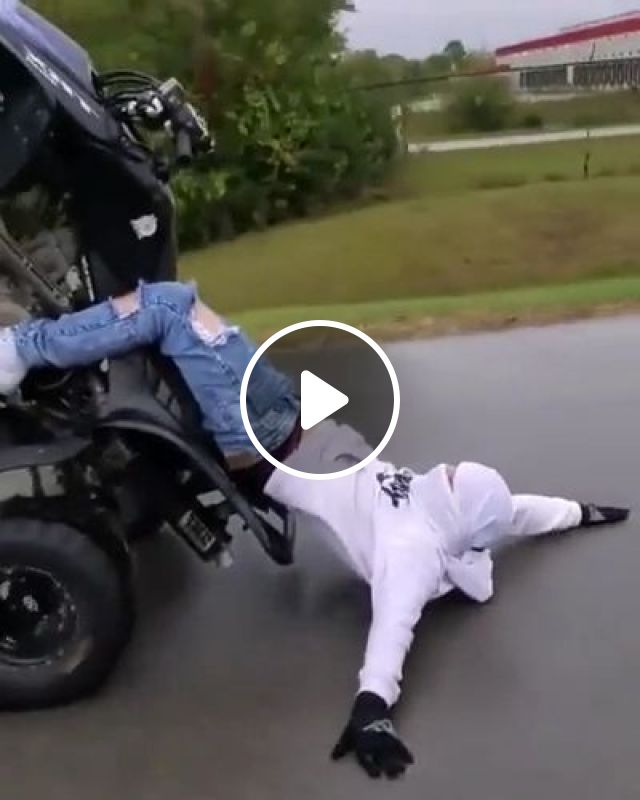 A Man Performs With A Four-wheeled Motorbike On The Street - Video & GIFs   auto & technique, men, men's fashion, performances, four-wheel motorcycles, street