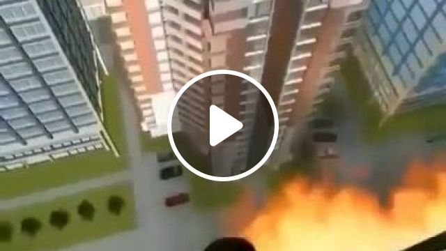 New technology helps people escape when  building is burnt - Funny Videos - funnylax.com - science & technology,new technology,escape,buildings,fire,rescue equipment