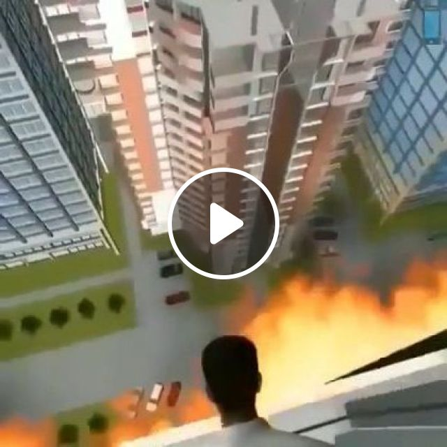 New Technology Helps People Escape When Building Is Burnt - Video & GIFs | science & technology, new technology, escape, buildings, fire, rescue equipment
