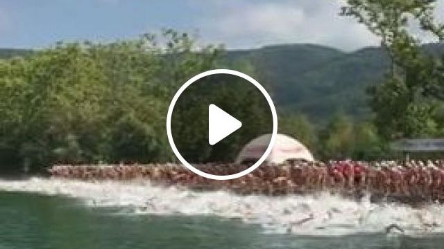 A Lot Of People In Swimming Festival - Video & GIFs | nature & travel, lots of people, swimming festivals, tourists